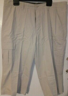 Stone Long Cargo Shorts Waist 40  Atlantic Bay BHS • 5.99£