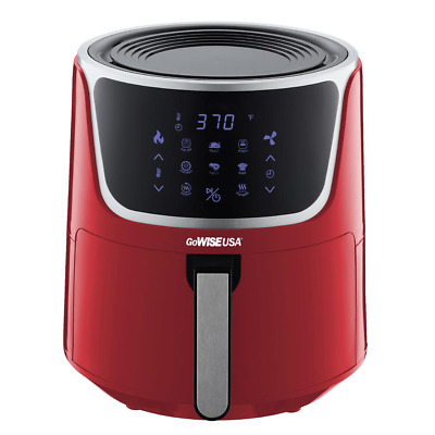 $ CDN168.72 • Buy 7 Qt. Red Air Fryer With Dehydrator And 3-Stackable Racks With 8-Functions