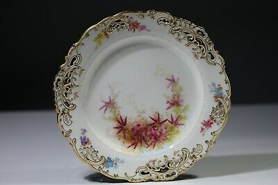 Minton Cabinet Plate Phillips  Of Bond Street Reticulated Hand Painted 1880s #2 • 19£