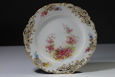 Minton Cabinet Plate Phillips  Of Bond Street Reticulated Hand Painted 1880s • 49£