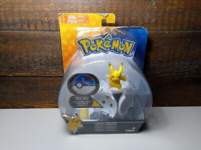 Pokemon Throw 'N Catch Pikachu With Great Ball New On Card TOMY 2017 • 12.99£