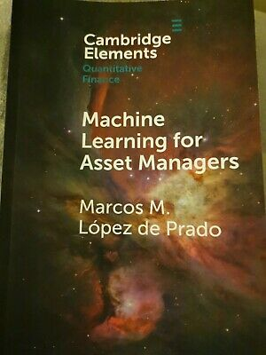 Machine Learning For Asset Managers (Elements In Quantitative Finance) • 9.99£