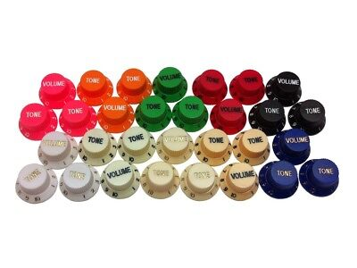 Stratocaster / Strat Potentiometer Control Knob Sets Or Individuals - 3 Colours • 2.50£