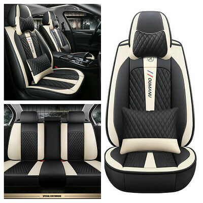 $ CDN174.83 • Buy Deluxe Edition 5-seats Car Seat Covers PU Leather Interior Full Set Front Rear