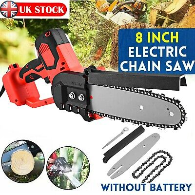 Cordless Electric Chain Saw Wood Cutter 550W Mini One-Hand Saw Woodworking • 39.95£