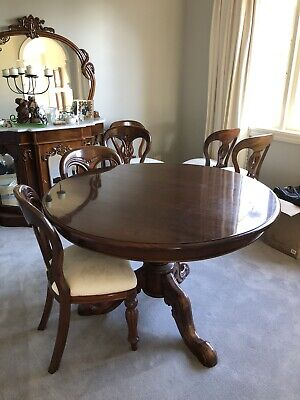 AU300 • Buy Mahongany Reproduction Dining Table And 6x Chairs