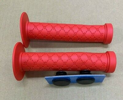 AU6.50 • Buy BMX Grips Red With Black Plugs,Flanged, Scooter, BMX Bicycle MTB