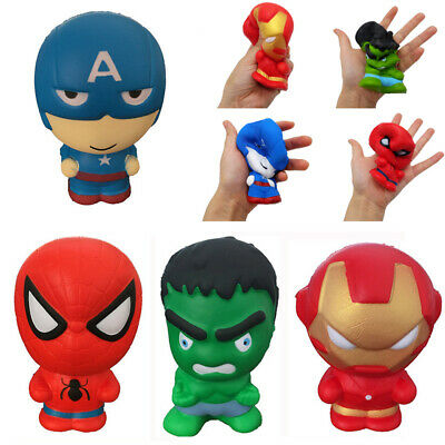 AU9.19 • Buy Super Hero Squishy Slow Rising Squishies Toy Jumbo Squeeze Stress Relief Toys Gb