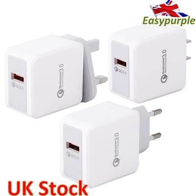 £4.31 • Buy USB Fast Charger Power Supply Adapter 3A QC 3.0 For IPhone IPad Samsung HUAWEI