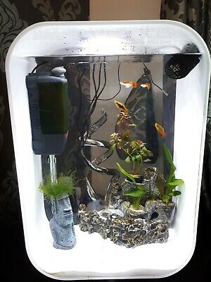 Biorb Life 60L Fish Tank And Accessories (In White) With LED Light • 150£