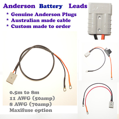AU43.18 • Buy Anderson Plug Battery Cable Car Boat Camping RV 11 AWG, 8 AWG, 6 AWG 0.5 To 6 M