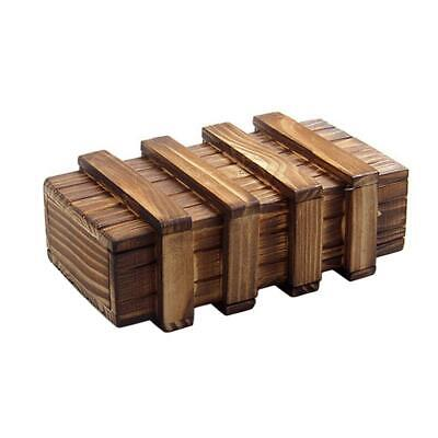 Magic Compartment Wooden Puzzle Box With Secret Drawer Brain Teaser • 0.56£