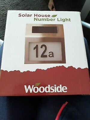 Solar Powered LED Illuminated House Door Number Light Wall Plaque • 4.14£