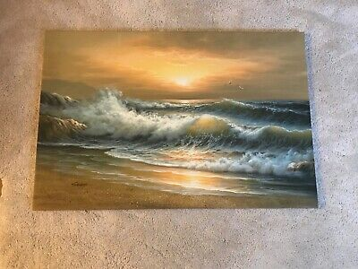 Original Oil Artwork Signed Landscape Of The Ocean  • 100£
