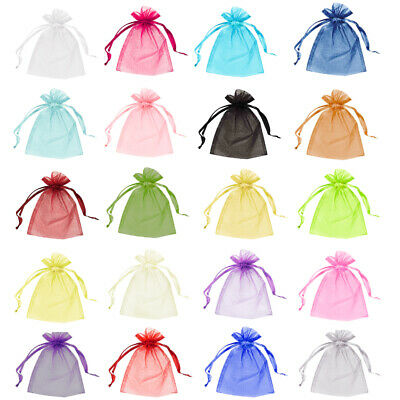 £2.45 • Buy 5 & 10 Organza Bags Wedding Favour Party Jewellery Pouches Mesh Drawstring Gift