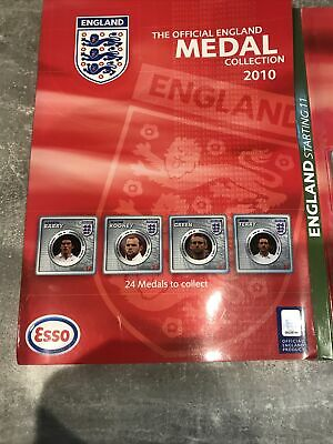 £55 • Buy Complete ENGLAND World Cup 2010 Medal Coin Collection (ESSO) Football