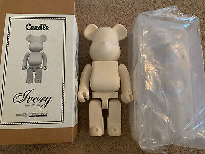 $600 • Buy Authentic Medicom 400% Be@Rbrick Candle Bearbrick Ivory Scent Of Vanilla