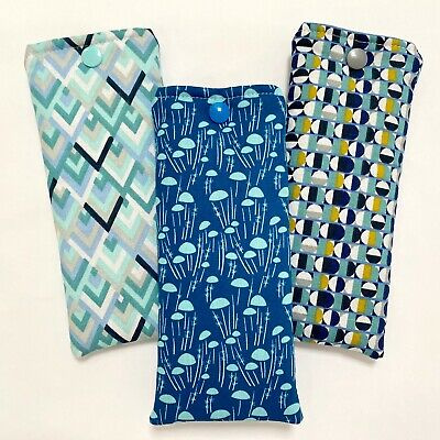 £4.10 • Buy Glasses Case Pouch | Handmade | Jellyfish Geometric Padded | Soft Case Lined