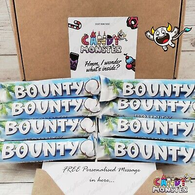 8 X Bounty Chocolate Sweet Hamper Selection Gift Box Present Personalised  • 9.99£