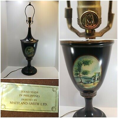 $279.98 • Buy Rare Antique Maitland-Smith Hand Painted Table Lamp - Stunning Louis XVI Style!!