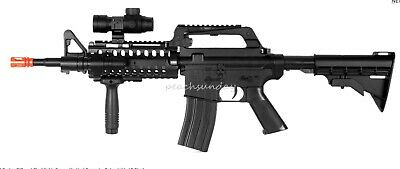 $31.95 • Buy M4 RIS Spring Rifle W/ Flashlight Scope Vertical Foregrip Retractable LE Stock