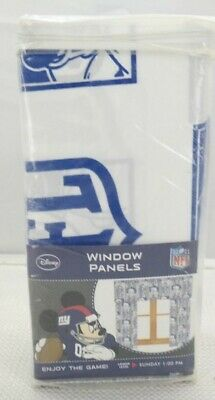 Disney Mickey Mouse NFL New York Giants Window Panels/ Curtain T3 • 23.46£