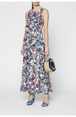 AU140 • Buy Scanlan Theodore Junky Print Dress Maxi Floral 2019 Size 8 RRP $650
