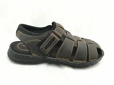 Rockport Mens Fisherman Darwyn Sandals Size 11 M  Brown Leather Shoes H80310 • 15.06£