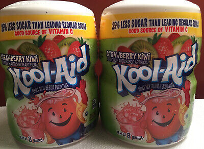 Kool Aid Snappin STRAWBERRY KIWI Drink Mix~ 1lb 3oz Containers ( LOT Of  2 ) • 7.12£