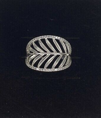 AU58 • Buy AUTHENTIC PANDORA [S 925 ALE 56] Palm Leaf Silver Ring (RETIRED)