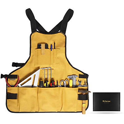 AU48.08 • Buy Briteree Work Tool Apron For Men And Women, Torso Length With 21 Tool Pockets,