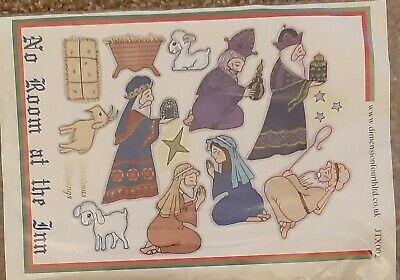 DIMENSION FOURTH LTD No Room At The Inn NATIVITY Clear Stamp Set JTX002 Wise Men • 3.75£