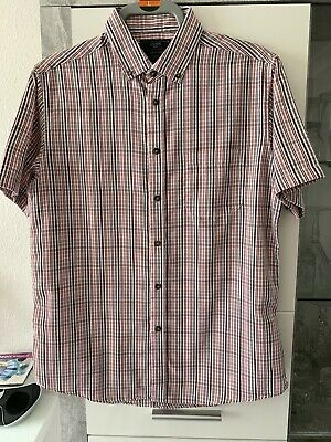 Mens Atlantic Bay BHS Short Sleeve Checked Shirt Size M • 1.50£