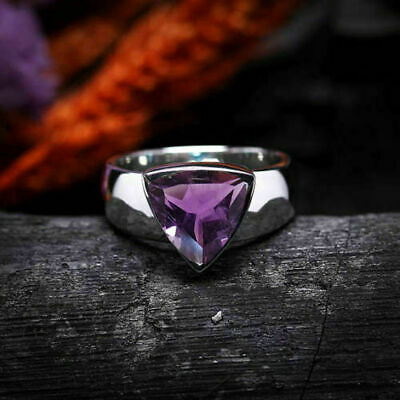 £39.64 • Buy Solid 925 Sterling Silver Amethyst Gemstone Husband Gift Mens Ring Jewelry