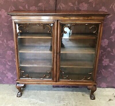 £190 • Buy Antique Mahogany Display Cabinet, Glass Fronted Cabinet,