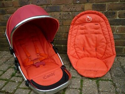 ICandy Peach Blossom (Double) LOWER Seat Unit In Tomato -Ex Cond • 50£