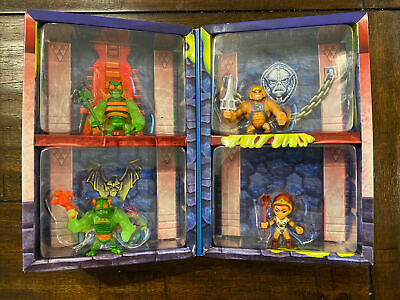 $72 • Buy Masters Of The Universe MOTU Eternia Minis Slime Pit 4 Pack Heman Zodak Teela