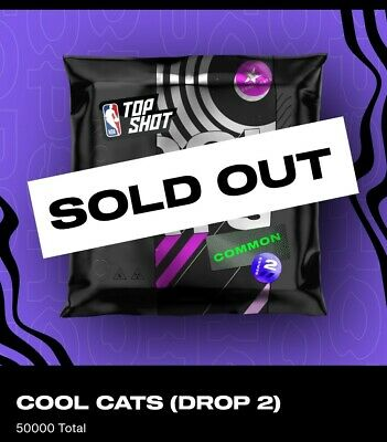 $2999 • Buy Nba Top Shot Pack - Cool Cats Drop 2 Nft 1 Cc 4 Base Moments