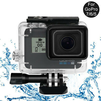 $ CDN20.16 • Buy For GoPro Hero 5 6 7 Black Camera Accessories 45m Diving Waterproof Housing Case