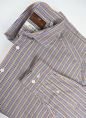 LAKSEN TWO PLY TWILL Men's X LARGE Checked Colourful Casual Shirt 32775_GS • 23.27£