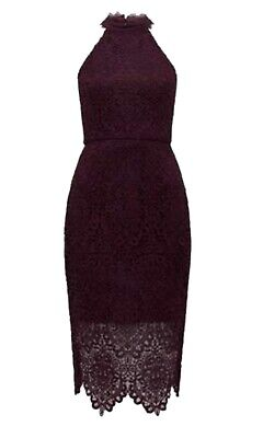 AU27 • Buy Forever New Beverley Lace Pencil Dress Cherry Size 8