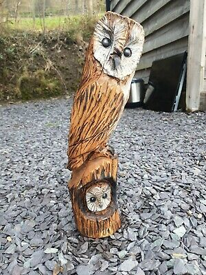 £59.99 • Buy Chainsaw Carved Hardwood Owl