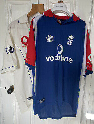 2006 England Admiral TEST & ODI Cricket Shirts Pair - Ashes Winter Tour 2006  • 10£