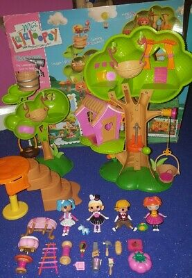 Mini Lalaloopsy Tree House Set With Adorable Dolls & Accessories Great Condition • 15.99£