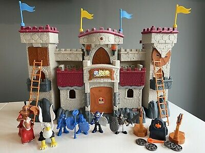 Fisher Price Imaginext Folding Castle Lights And Sounds Interactive With Figures • 20£
