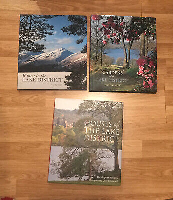 3 Big Lake District Books Gardens:Longville, Houses:Holliday, Winter:Corbett • 29.99£