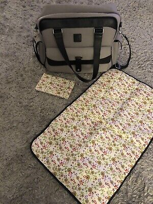 ICandy Peach Grey (silver Mint) Nappy Changing Bag & Accessories Hardly Used! • 25£