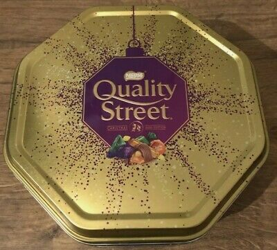 *Empty* Rare Nestle Quality Street Gold Sweet Tin Christmas 2020 Limited Edition • 3£
