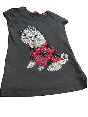 Blue Zoo Age 9 Sequin Dog Girls T Shirt • 1.60£
