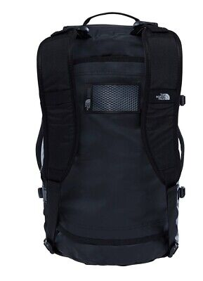 The North Face Base Camp Duffle Bag Small S Size 50L Black Silver Holiday Travel • 59£